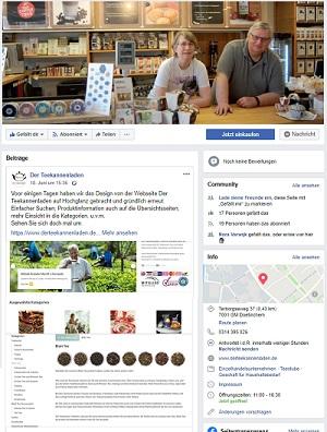 Facebookseite Der Teekannenladen