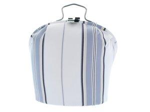 Teewärmer mit Verschluss: Graue Streifen Muster