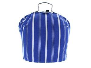 Teewärmer mit Verschluss: Blaue Streifen Muster
