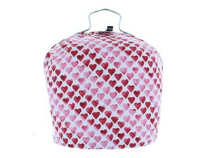 Teewärmer mit Verschluss:  Hearts Muster