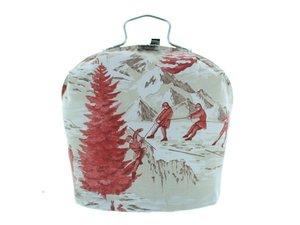 Teewärmer mit Verschluss: Berge Muster
