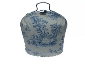 Teewärmer mit Verschluss: Blau Klassik Muster