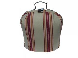 Teewärmer mit Verschluss:  Fantasie Streifen Rot Muster