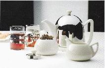 Cosy® Manto Set: Teekanne Weiss 1,0 Liter mit Zuckerdose und