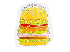 Blond Amsterdam 3D Snack Teller Hamburger