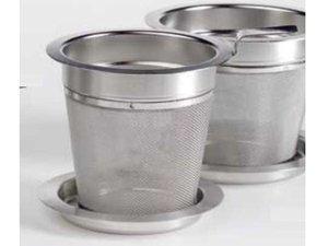 Edelstahl Filter mit Ablage - 6 cm Durchmesser und 6 cm hoch