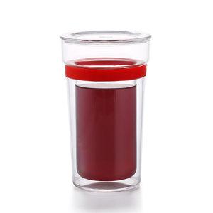 Samadoyo doppelwandiges Glas rot 350 ML
