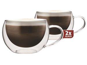 Thermo-Glas Set von zwei: Cappuccino 300 ml.