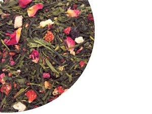 Grüner Tee Sencha Erdberen & Himbeeren 100 Gramm