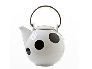 Eslau Bornholm schwarz Polkadot, 2,6 Liter Teekanne