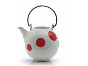 Eslau Bornholm rot Polkadot, 1,4 Liter Teekanne