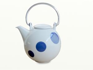 Eslau Bornholm blau Polkadot, 1,4 Liter Teekanne