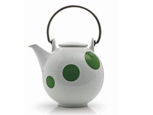 Eslau Bornholm grün Polkadot, 1,4 Liter Teekanne