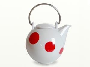Eslau Bornholm rot Polkadot, 2,6 Liter Teekanne