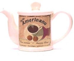 Cafe Americano, One Cup Teapot