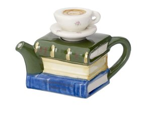 Books and Tea One Cup Teapot