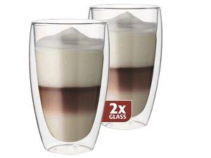 Thermo-Glas Set von zwei: Latte 380 ml