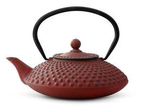 Gusseisen Teekanne 1,25 Ltr: Xilin - Rot