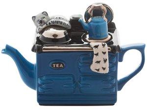 Aga, eine Tasse Teekanne, Mitte blau