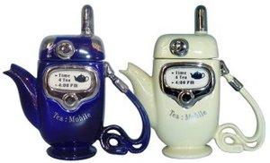 Handy - Blau Teekanne für eine Tasse