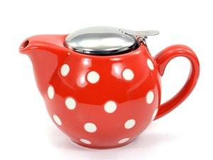 Chacult Saara Rot Teekanne mit weißen Punkten 0,5 lt