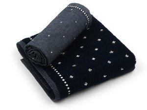 Bunzlau Handtuch Basic Dark Blue