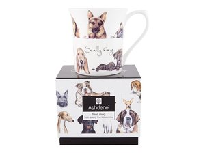 Ashdene Scally Dogs Becher in Geschenk-Box