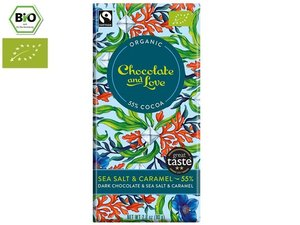 Chocolate and Love Organic Sea Salt 55% Chocolate 80 gram CH-BIO-006