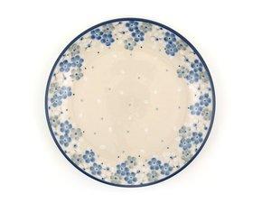 Bunzlau Plate 20 cm Blue Frühling - April