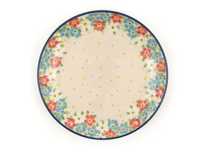 Bunzlau Plate 20 cm Blue Frühling - Juni