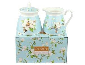 Ashdene Magnolia Zuckerdose und Milchkännchen