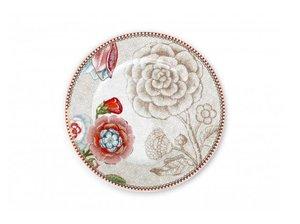 Pip Studio Kuchenteller Spring to Life Weiß 17 cm