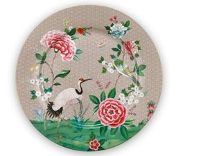 Pip Studio Unterteller Blushing Birds Khaki 32 cm