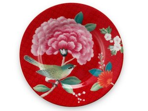 Pip Studio Petit Four Teller Blushing Birds Rot