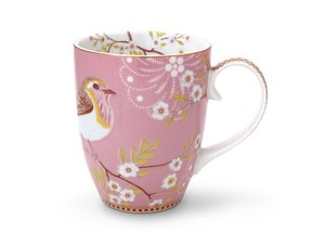 Pip Studio Becher Large Early Bird Rosa