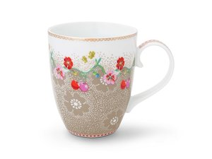 Pip Studio Becher Large Floral Cherry Khaki