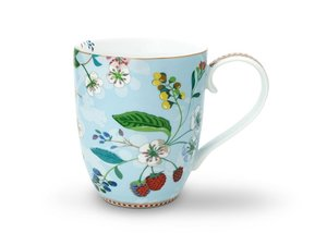 Pip Studio Becher XL Hummingbird Blau
