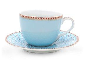 Pip Studio Espressotasse Blau