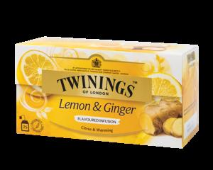 Twinings Citrone & Ingwer Kraueterteemischung 25 Teebeutel (37,5 Gramm)