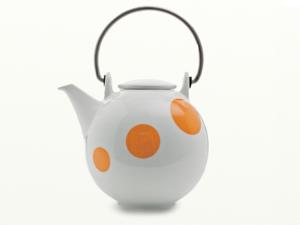 Eslau Bornholm Orange Polkadot, 1,4 Liter Teekanne