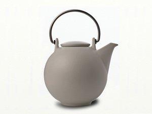 Eslau Bornholm beige / weiss matt, 2,6 Liter Teekanne