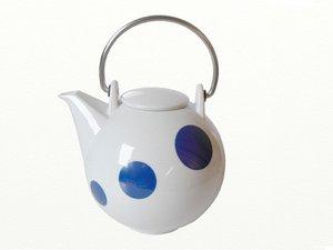 Eslau Bornholm blau Polkadot, 2,6 Liter Teekanne