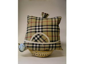 Teewärmer mit Korb: Schotland Muster