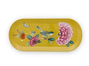 Pip Studio Tortenplatte Oval Blushing Birds Gelb