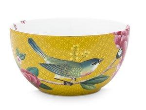 Pip Studio Schale Blushing Birds Gelb 12 cm