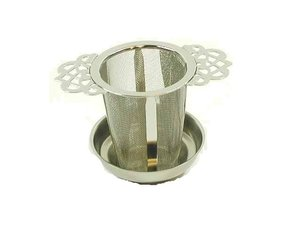 Edelstahl Filter mit 2 verzierte Henkel - 5,5 cm Durchmesser