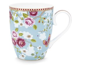 Pip Studio Becher Large Early Bird Chinese Rose Blau