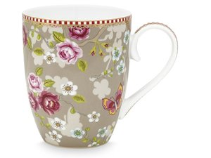 Pip Studio Becher Large Early Bird Chinese Rose Khaki