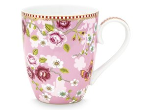 Pip Studio Becher Large Early Bird Chinese Rose Rosa