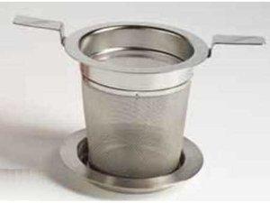 Edelstahl Filter mit Doppelhenkel und Ablag - 5,9 cm Durchmesser